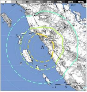peta gempa padang