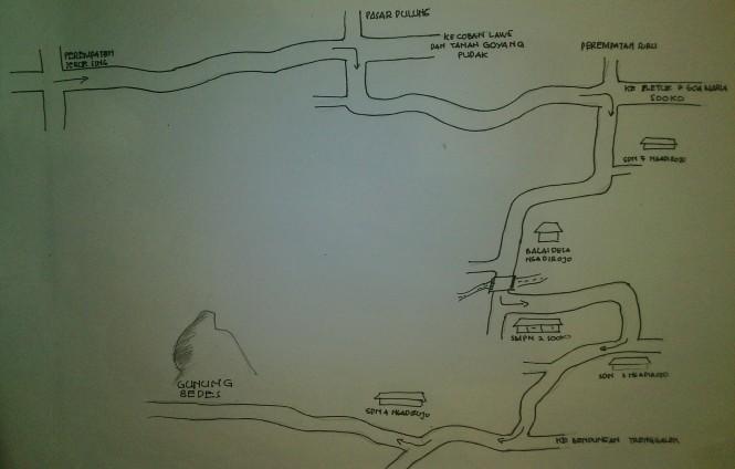 rute menuju gunung bedes
